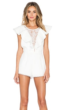 NBD All The Feels Romper in Ivory