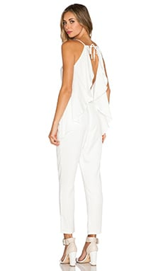 NBD Watch Your Back Jumpsuit in Ivory
