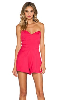 NBD Talk To Me Romper in Hot Pink