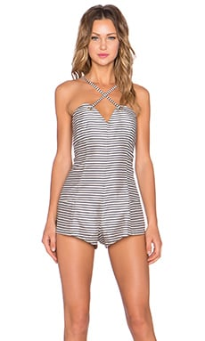 NBD For Your Heart Romper in Stripe