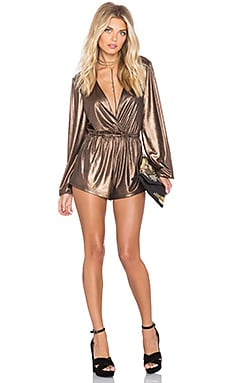 NBD SU2C x REVOLVE Disco Romper in Copper