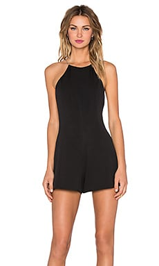 NBD Hitched Romper in Black