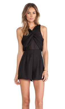 NBD Hollywood Romper in Black