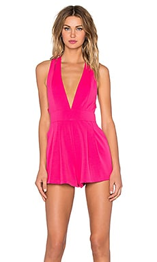 NBD x REVOLVE Tuesday Romper in Hot Pink