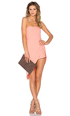 NBD Secrets Revealed Romper in Peachy Rose
