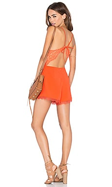 Let It Go Romper in Coral