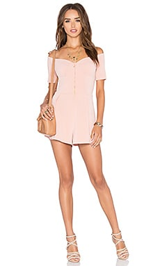 NBD Trapped Romper in Blush