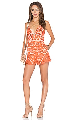 Out Of Touch Romper in Coral