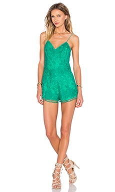 Reign Romper in Summer Green