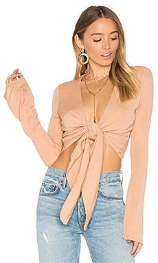 x REVOLVE Geovanni Top in Caramel & Gold