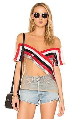 x REVOLVE Mireya Top en Inferno Stripe