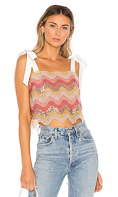 1ef9e861282 Embellished Sequined Top - REVOLVE