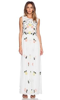 Needle & Thread Locket Maxi Dress in Sky & Brights