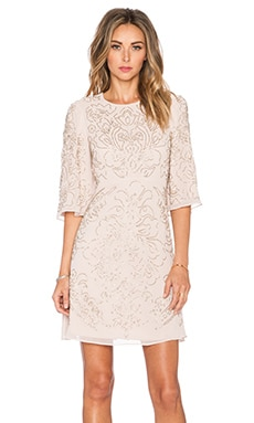 Needle & Thread Embellished Fleur Dress in Rose