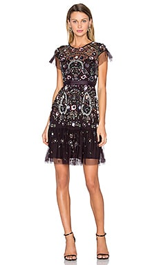 Enchanted Lace Dress in Aubergine
