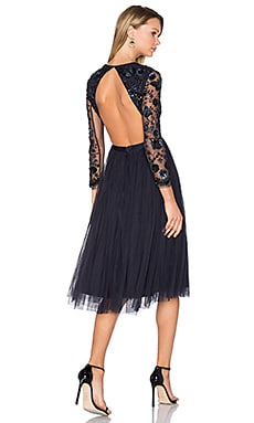 Embellished Butterfly Dress in Midnight