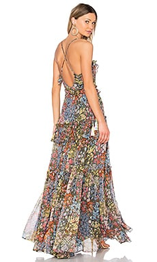 Flowerbed Maxi Dress in Multi