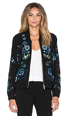 Needle & Thread Enchanted Bomber Jacket in Black