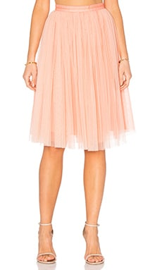 Tulle Midi Skirt in Dust Coral