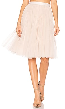 Tulle Midi Skirt in Petal Pink