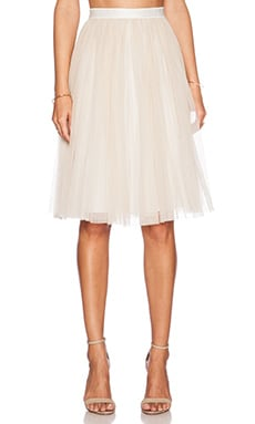 Needle & Thread Tulle Midi Skirt in Chalk