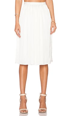 Needle & Thread Pandora Midi Skirt in Cream