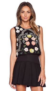 Needle & Thread Locket Top in Black & Brights