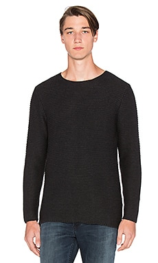 NEUW Johhny Knit in Charcoal Rope
