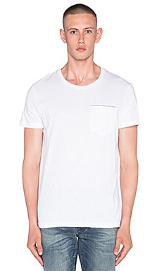 NEUW Service Pocket Tee in White Slub