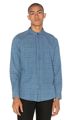 NEUW Enkel Shirt in Denim Crosses