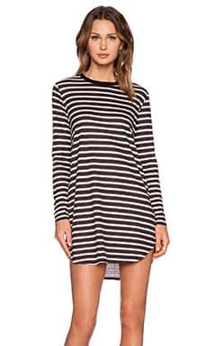 NEUW Linen Rebel Dress in Black & White Stripe