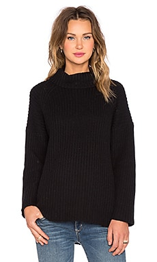 NEUW Splits Turtleneck Sweater in Black