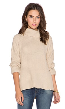 NEUW Splits Turtleneck Sweater in Natural