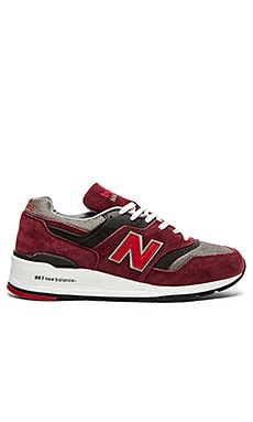 New Balance Made in USA M997 in Burgundy Grey