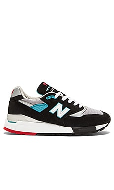 New Balance Made in USA M998 in Black Grey Silver