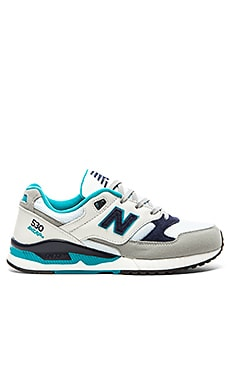New Balance M530 in White Teal Navy