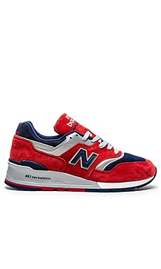 New Balance Made in USA M997 in Red Navy