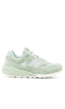 New Balance MRT580 in Mint Suede Mesh