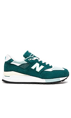 New Balance Made in USA M998 in Green Off White