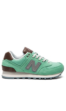 New Balance 574 Cruisin' Sneaker in Aqua Chalk & Seafoam