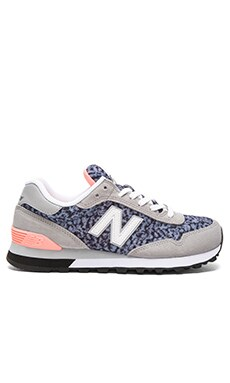 New Balance 515 Summer Safari Sneaker in Grey & Coral