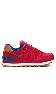 574 Collegiate Pack Sneaker in Crimson, Red, & Atlantic