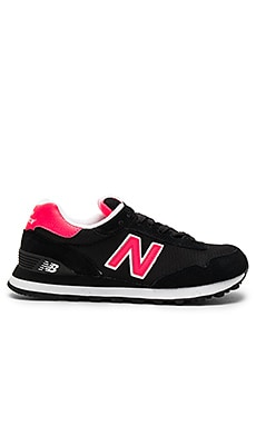 515 Sneaker in Black & Bright Cherry