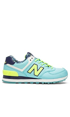 New Balance Luau Sneaker in Blue & Yellow