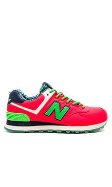 New Balance Luau Sneaker in Pink & Green