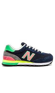 New Balance Modern Classics Sneaker in Navy & Orange