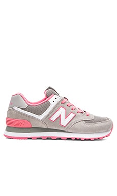 Core Plus Sneaker in Grey & Pink
