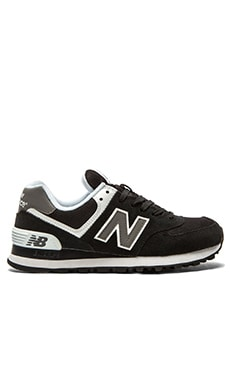 New Balance 574 Core Collection Sneaker in Black & White