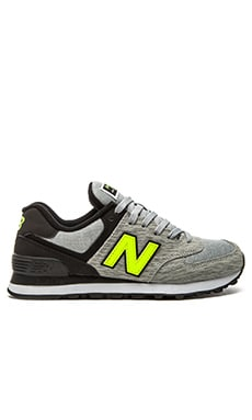 New Balance 574 Sweatshirt Collection Sneaker in Grey & Black