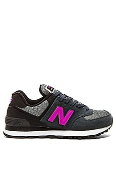 New Balance 574 Sweatshirt Collection Sneaker in Grey & Violet